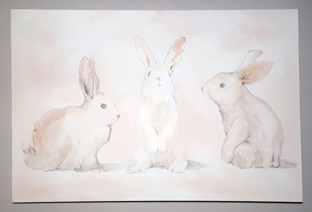 Bunnies on a canvas