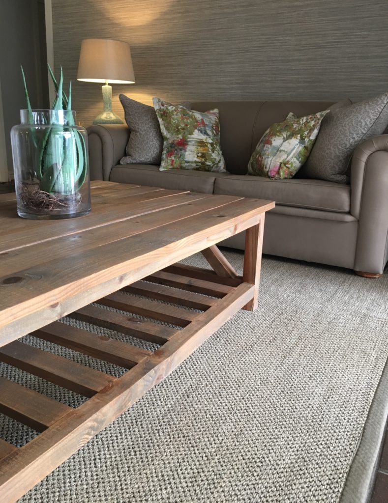 Hertex sisal rug, Sutherlands coffee table
